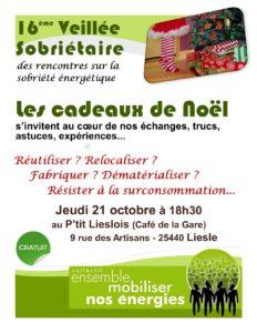 Veillée Sobriétaire - Temps d'échanges ouvert à tous @ Le P'tit Lieslois (Café de la Gare)
